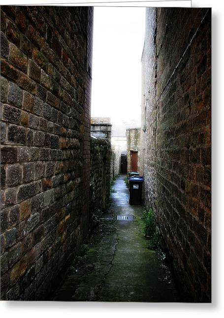 Garden Scene Digital Art Greeting Cards - Typical English Back Alley Greeting Card by Michael Braham