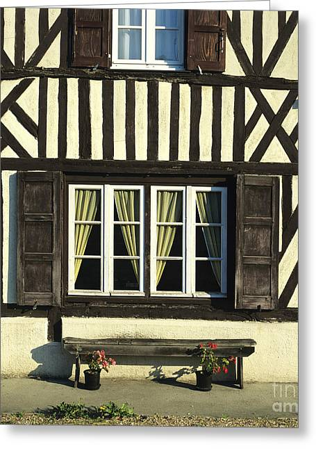 Framework Greeting Cards - Typical house  half-timbered in Normandy. France. Europe Greeting Card by Bernard Jaubert