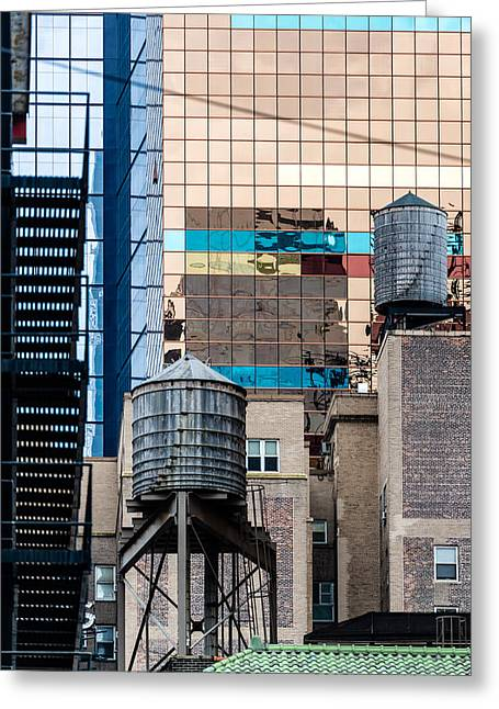 Industrial Background Greeting Cards - Typical New York Facades Greeting Card by Frank Gaertner