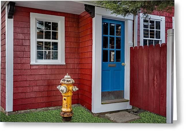 Wharf Greeting Cards - Typical Rockport Massachusetts Greeting Card by Susan Candelario