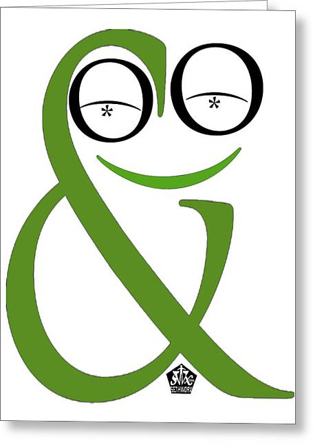 Seth Weaver Greeting Cards - Typographical Frog Greeting Card by Seth Weaver