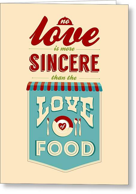 Food Digital Greeting Cards - Typography art quote Greeting Card by Lab No 4 - The Quotography Department