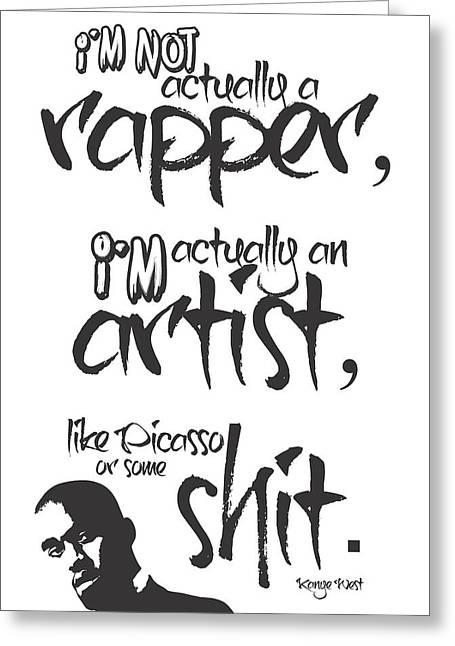 Hip-hop Greeting Cards - Typography Quotes Print Poster Greeting Card by Lab No 4 - The Quotography Department