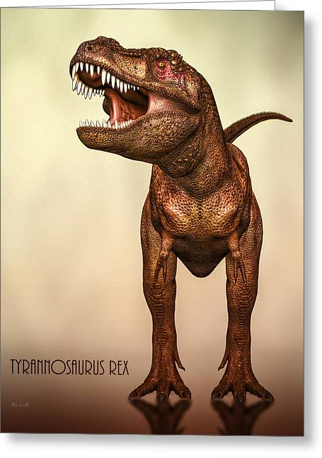 T-rex Greeting Cards - Tyrannosaurus Rex 2 Greeting Card by Bob Orsillo
