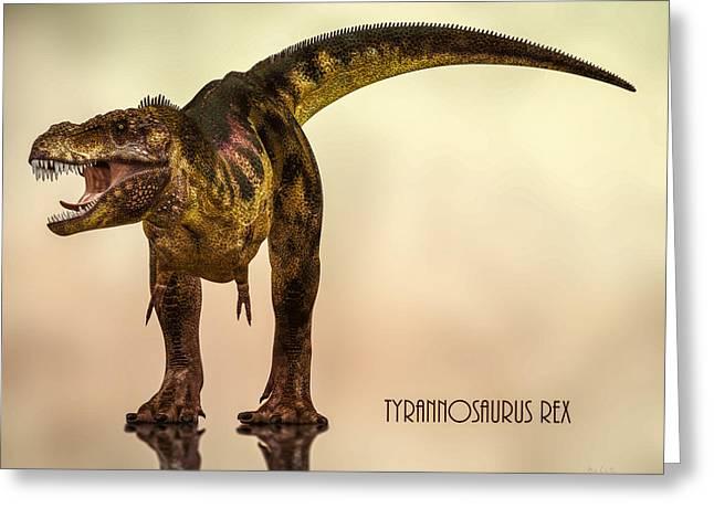 Tyrannosaurus Rex Dinosaur  Greeting Card by Bob Orsillo