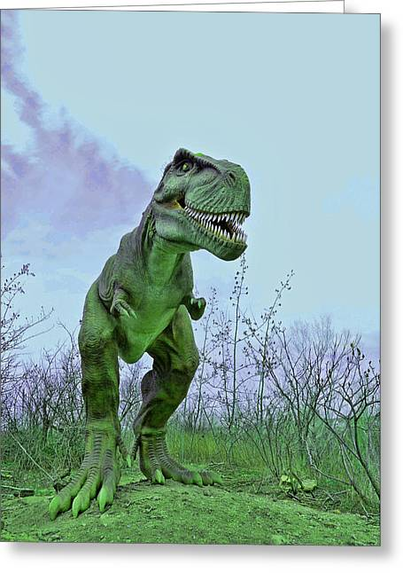 Tyrannosaurus Rex  T- Rex Greeting Card by Allen Beatty