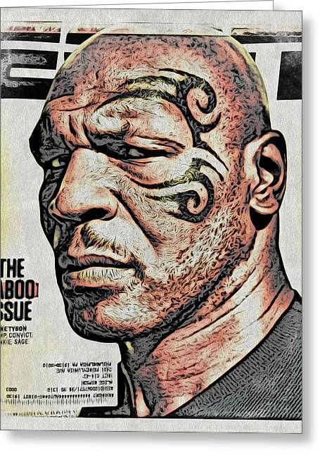 Espn Digital Greeting Cards - Tyson Magazine Cover Greeting Card by Alice Gipson