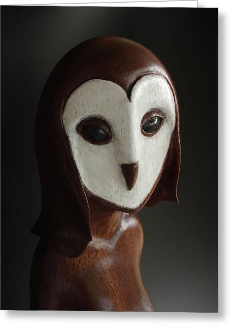 Barn Sculptures Greeting Cards - Tyto Greeting Card by Terry Widner