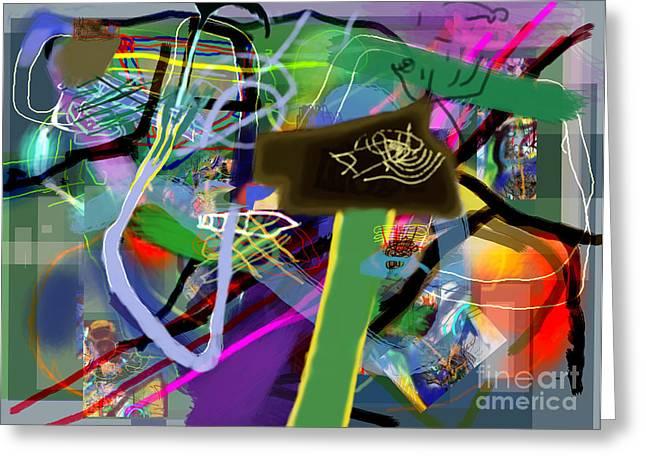 Tzaddik Greeting Cards - Tzaddik 6g Greeting Card by David Baruch Wolk