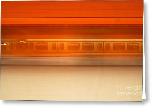 Longtime Exposure Greeting Cards - U-motion Greeting Card by Hannes Cmarits