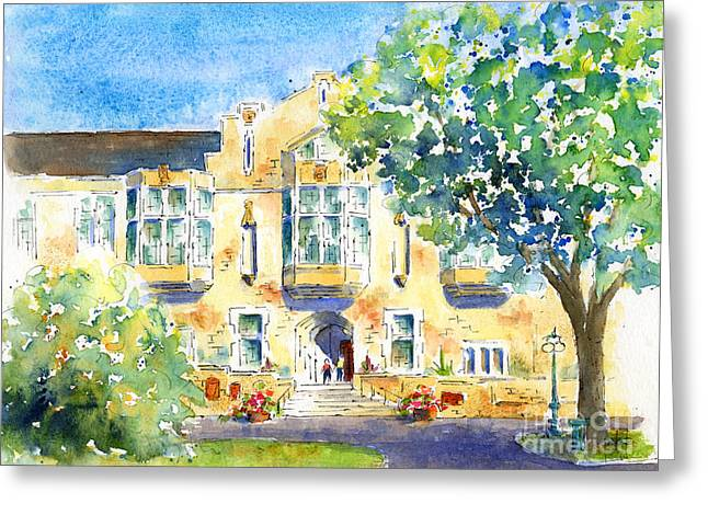 Raw Sienna Greeting Cards - U of S College Building Greeting Card by Pat Katz