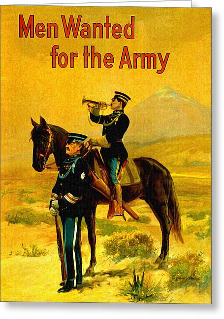 World War One Paintings Greeting Cards - U. S. Army Recruiting Artwork Greeting Card by Big 88 Artworks