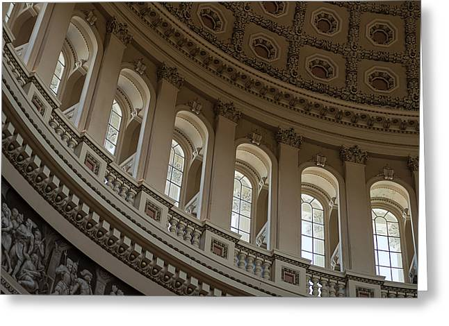 Capitol Greeting Cards - U S Capitol Dome Greeting Card by Steve Gadomski
