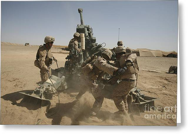 Helmand Province Greeting Cards - U. S. Marines Ram A Satellite-guided Greeting Card by Stocktrek Images