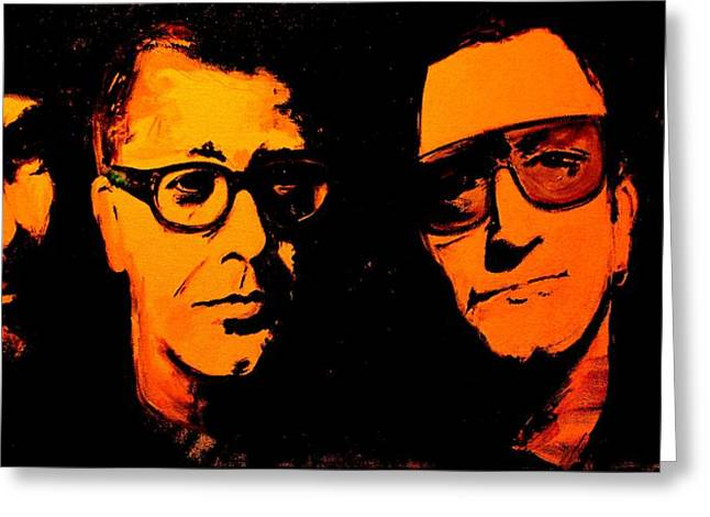 U2 Paintings Greeting Cards - U2 Abstract Greeting Card by John Barth