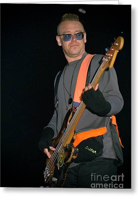 Adam Clayton Greeting Cards - U2-Adam-GP24 Greeting Card by Timothy Bischoff