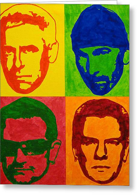 U2 Paintings Greeting Cards - U2 Greeting Card by Doran Connell
