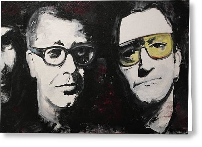 U2 Paintings Greeting Cards - U2 Force Greeting Card by John Barth