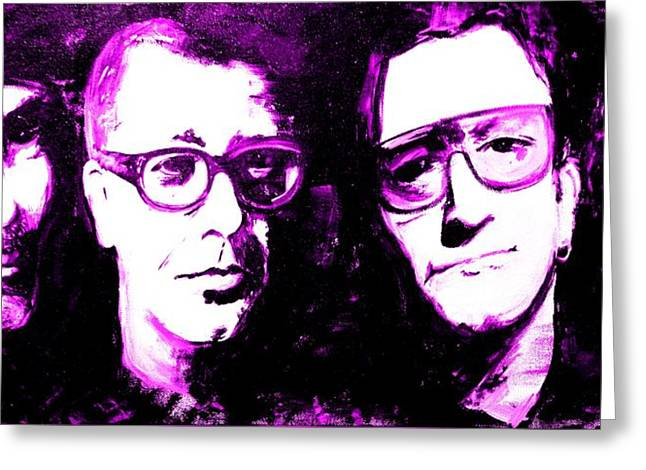 U2 Paintings Greeting Cards - U2 Millennium Greeting Card by John Barth