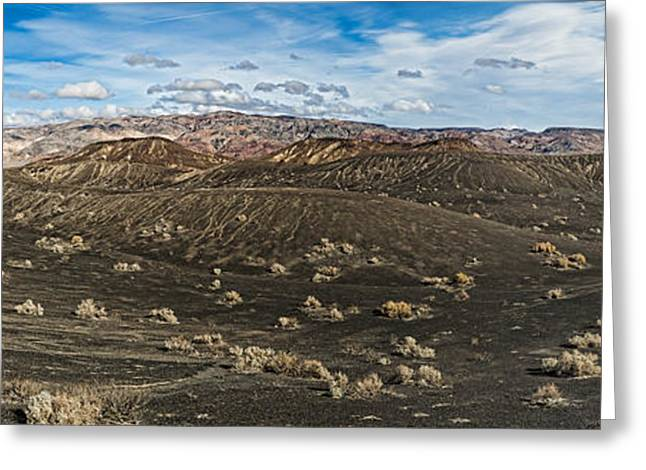 Natural Disaster Greeting Cards - Ubehebe Lava Fields, Ubehebe Crater Greeting Card by Panoramic Images