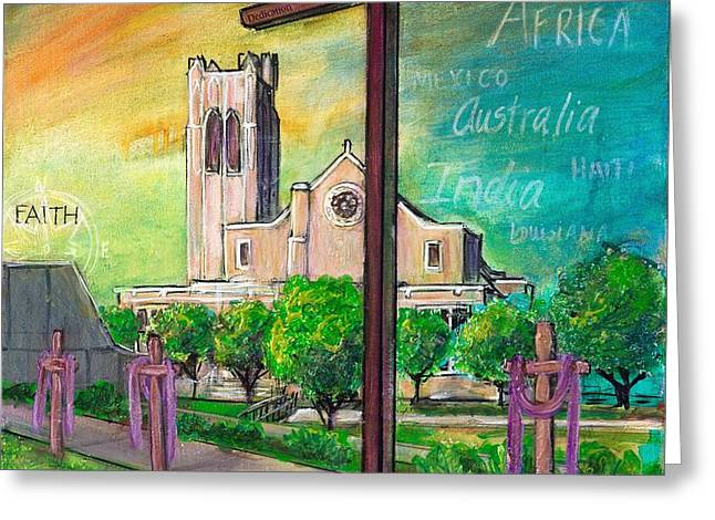 Holy Week Greeting Cards - Ubuntu McMurry University TX Greeting Card by TMGand