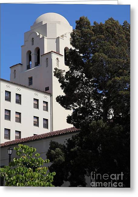 Uc California Greeting Cards - UC Berkeley International House College Dormatory 5D24741 Greeting Card by Wingsdomain Art and Photography