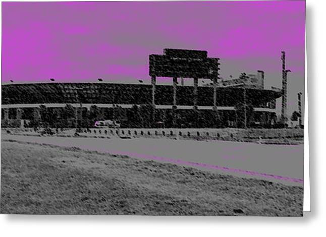 Modernism Pastels Greeting Cards - UCF Stadium Greeting Card by George Pedro