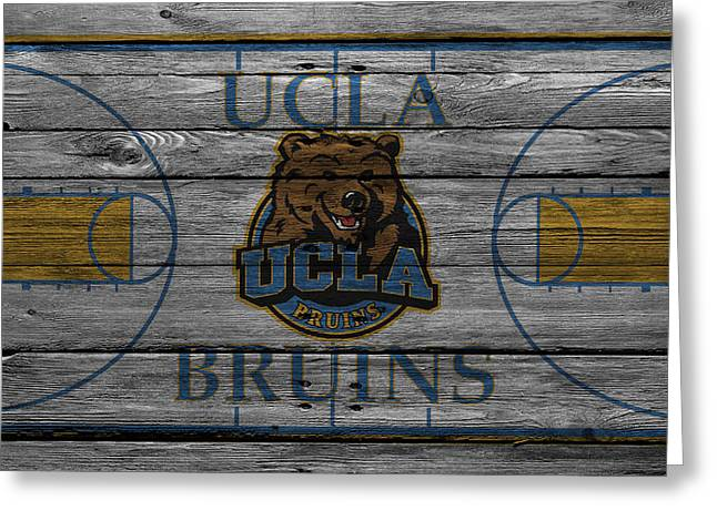 Team Greeting Cards - Ucla Bruins Greeting Card by Joe Hamilton