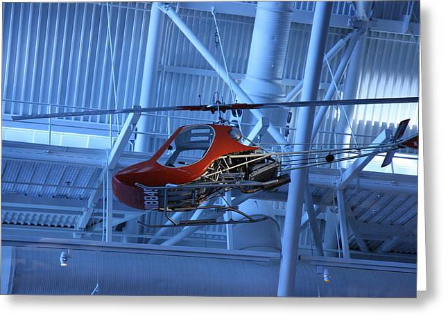Helicopter Greeting Cards - Udvar-Hazy Center - Smithsonian National Air And Space Museum annex - 1212102 Greeting Card by DC Photographer