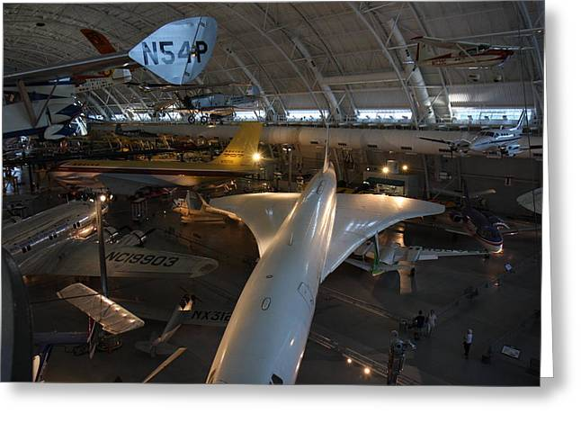 Udvar-hazy Center - Smithsonian National Air And Space Museum Annex - 1212104 Greeting Card by DC Photographer