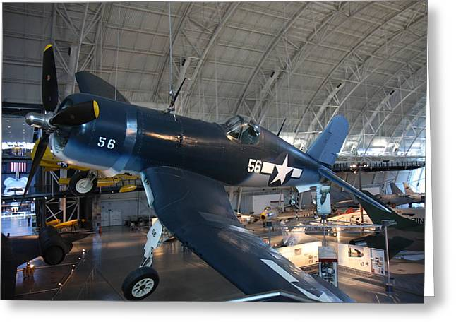 Center Greeting Cards - Udvar-Hazy Center - Smithsonian National Air And Space Museum annex - 12122 Greeting Card by DC Photographer