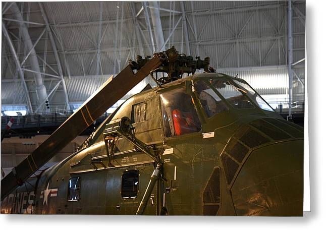 Helicopter Greeting Cards - Udvar-Hazy Center - Smithsonian National Air And Space Museum annex - 121220 Greeting Card by DC Photographer