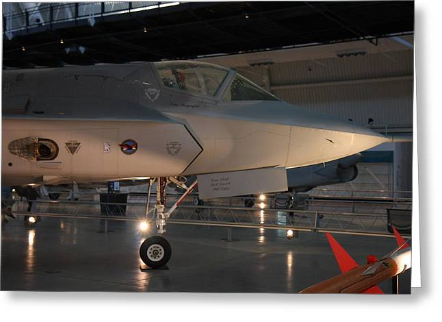 Udvar-hazy Center - Smithsonian National Air And Space Museum Annex - 121221 Greeting Card by DC Photographer