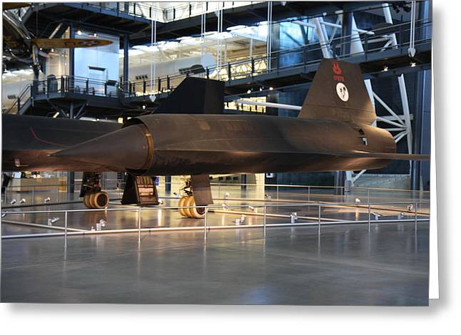 Hazy Photographs Greeting Cards - Udvar-Hazy Center - Smithsonian National Air And Space Museum annex - 121229 Greeting Card by DC Photographer