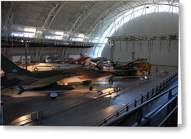 Air Greeting Cards - Udvar-Hazy Center - Smithsonian National Air And Space Museum annex - 12125 Greeting Card by DC Photographer