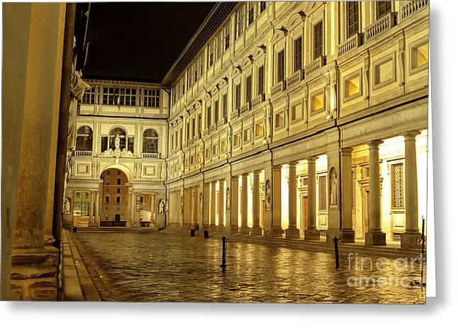 Uffizi Greeting Cards - Uffizi gallery Florence Italy Greeting Card by Ryan Fox