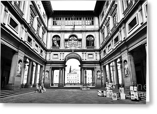 Uffizi Gallery In Florence Greeting Card by JR Photography