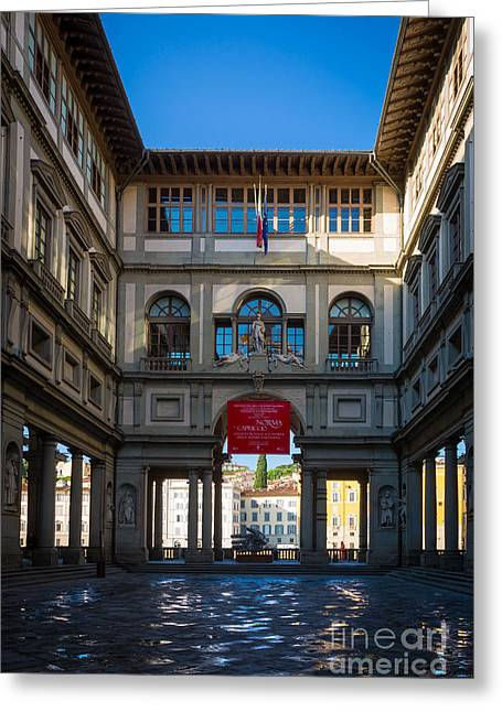 Europe Greeting Cards - Uffizi Greeting Card by Inge Johnsson