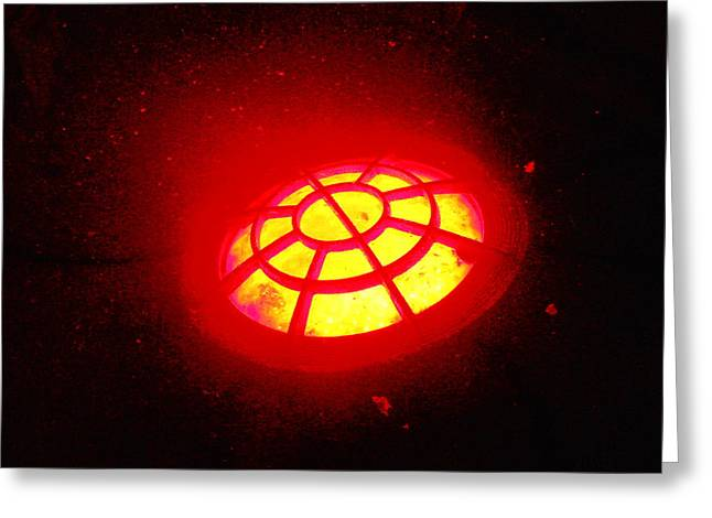 Fantasy World Greeting Cards - UFO In Flight Near Mars Greeting Card by James Welch