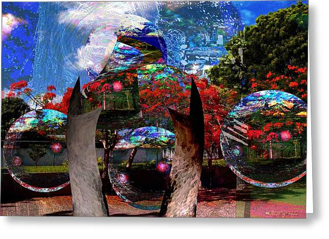 Puerto Rico Mixed Media Greeting Cards - UFO technology  Greeting Card by Miguel Conesa Osuna