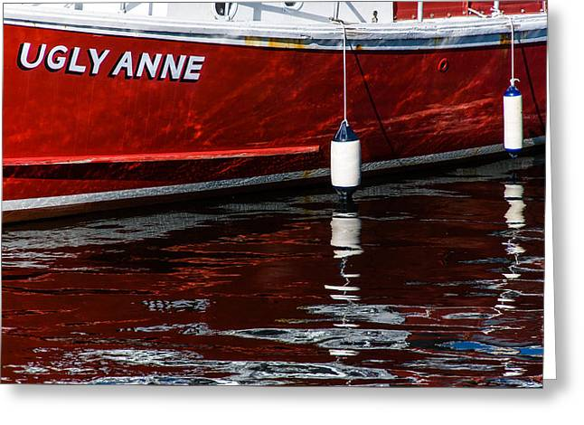 Fishing Boats Greeting Cards - Ugly Anne Greeting Card by Joseph Smith