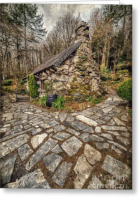Barrel Greeting Cards - Ugly Cottage Greeting Card by Adrian Evans