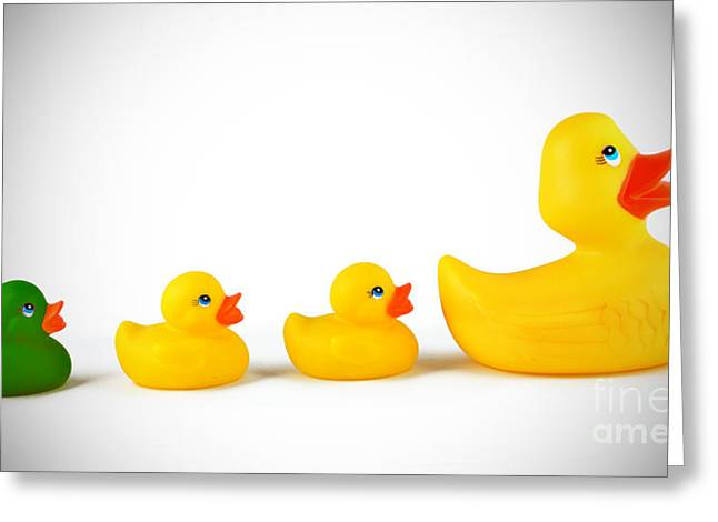 Rubber Ducky Greeting Cards - Ugly Duckling Greeting Card by Brandon Alms