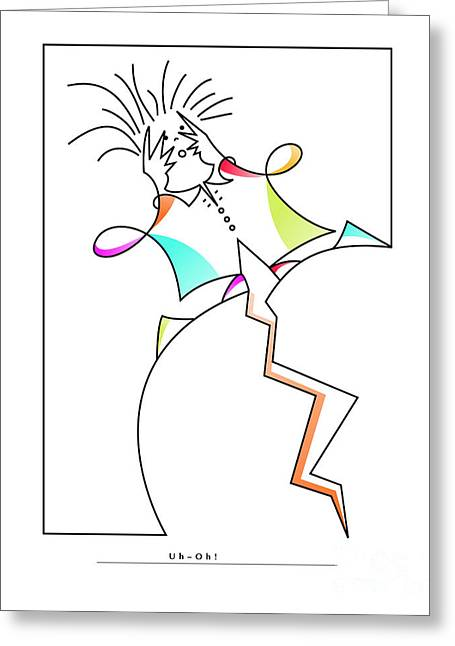 Figure Drawing Digital Art Greeting Cards - Uh Oh Greeting Card by Ruth Borges