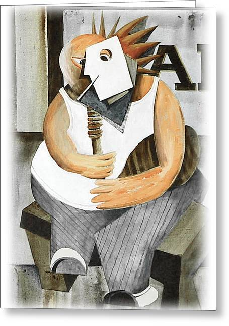 Tour Ireland Greeting Cards - Uilleann Piper Greeting Card by Val Byrne