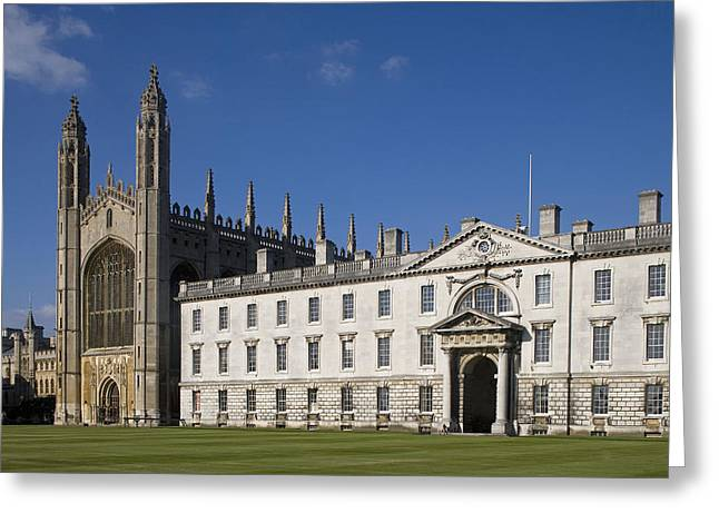 Christianism Greeting Cards - Uk, England, Cambridge, Kings College Greeting Card by Tips Images