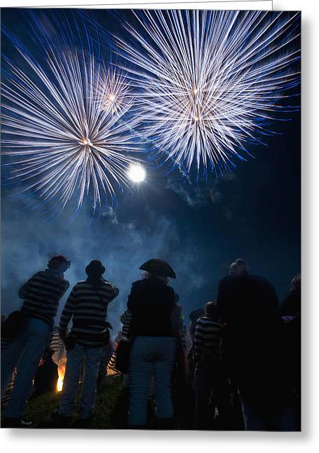 Bonfire Night Greeting Cards - Uk, England, East Sussex, People Greeting Card by Ian Cumming