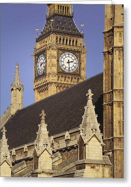 Londoners Greeting Cards - Uk, England, London, The Big Ben © Greeting Card by Tips Images