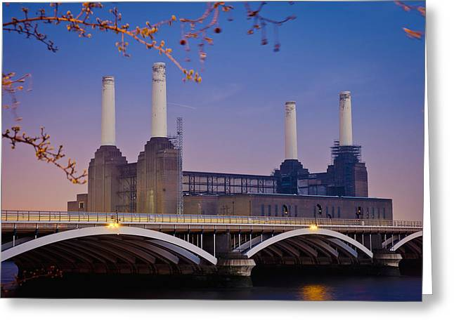 Greatest Generation Greeting Cards - Uk, England, View Of Battersea Power Greeting Card by Dosfotos