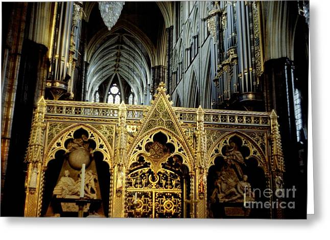 Alt-relief Greeting Cards - UK westminster Greeting Card by Ted Pollard
